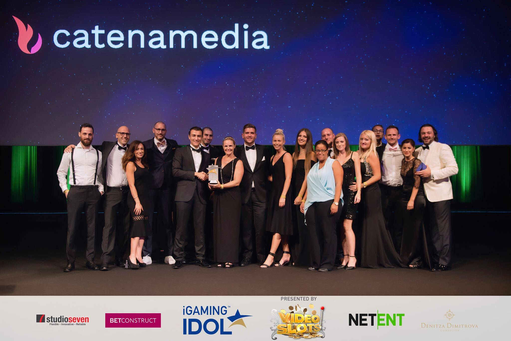 Catena Media Employer of the Year 2017 in iGamingIdol awards